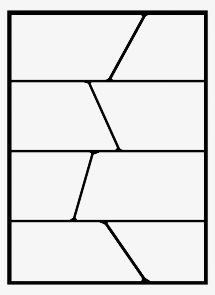 black and white comic template