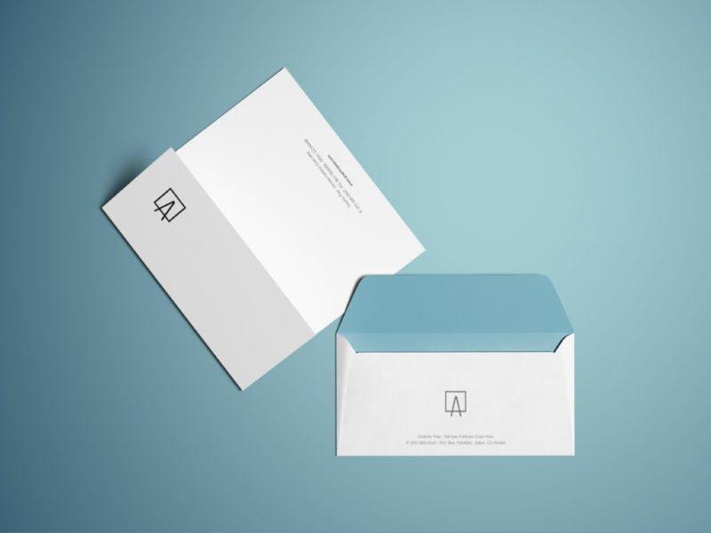clean envelope mockup
