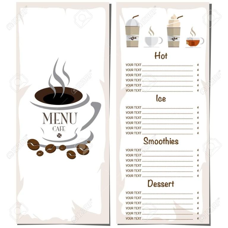 coffee shop menu template hand drawn