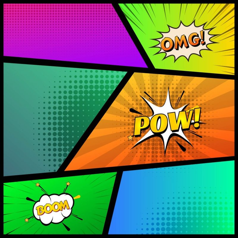 comic book template colorful background