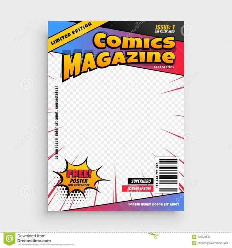 comic magazine book cover design