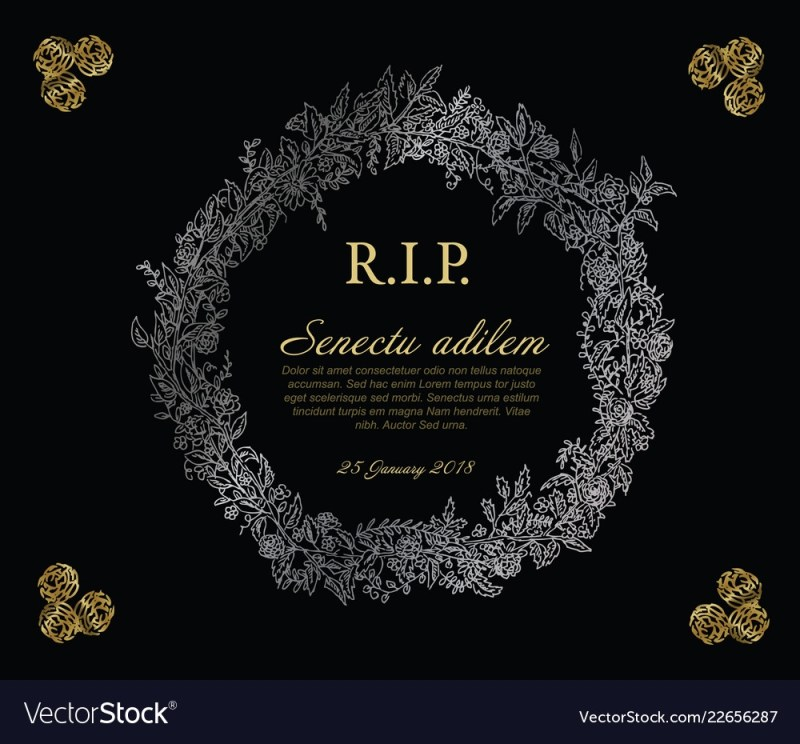 dark funeral card
