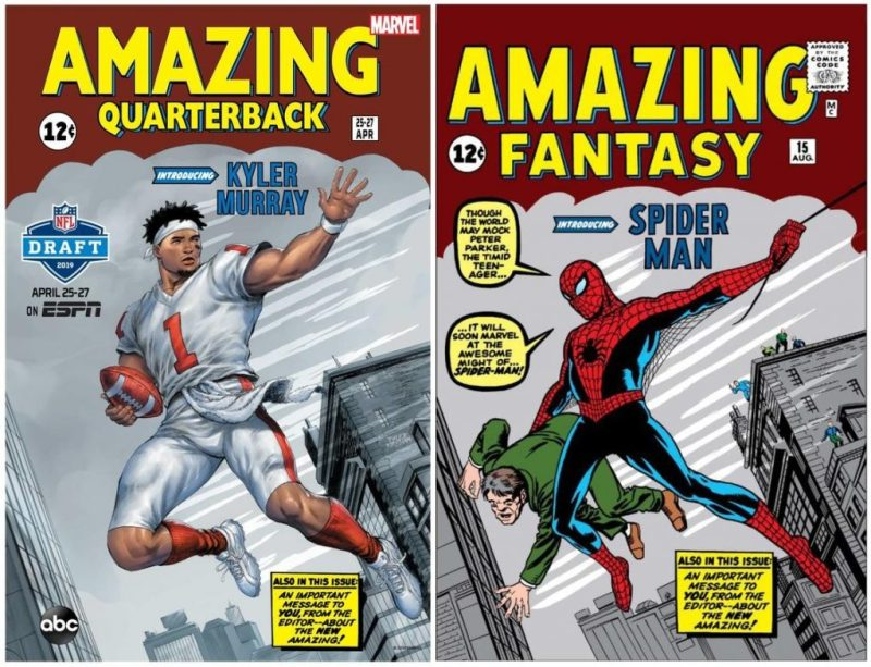 espn and marvel redraw comic book