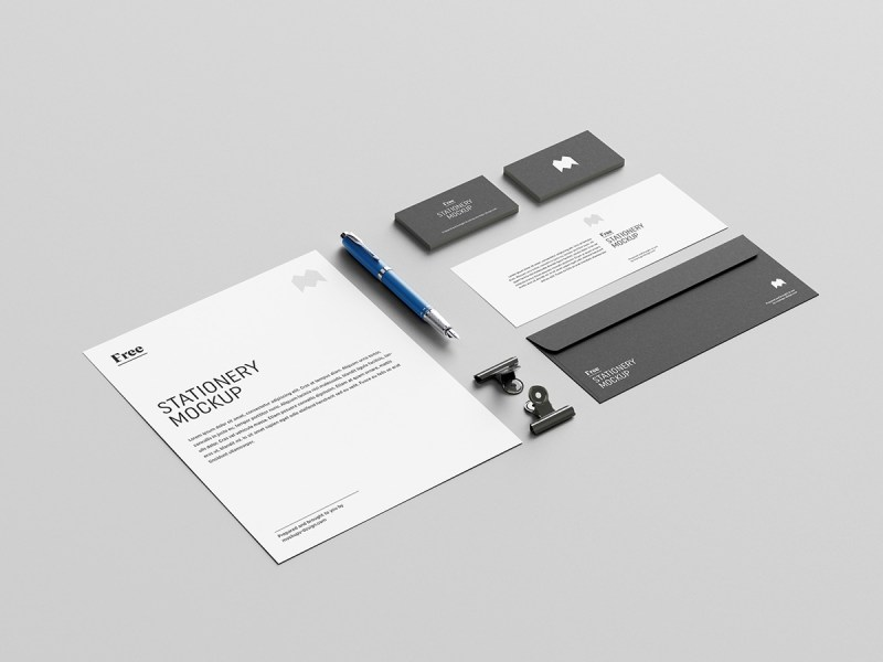 free stationary mockup photoshop