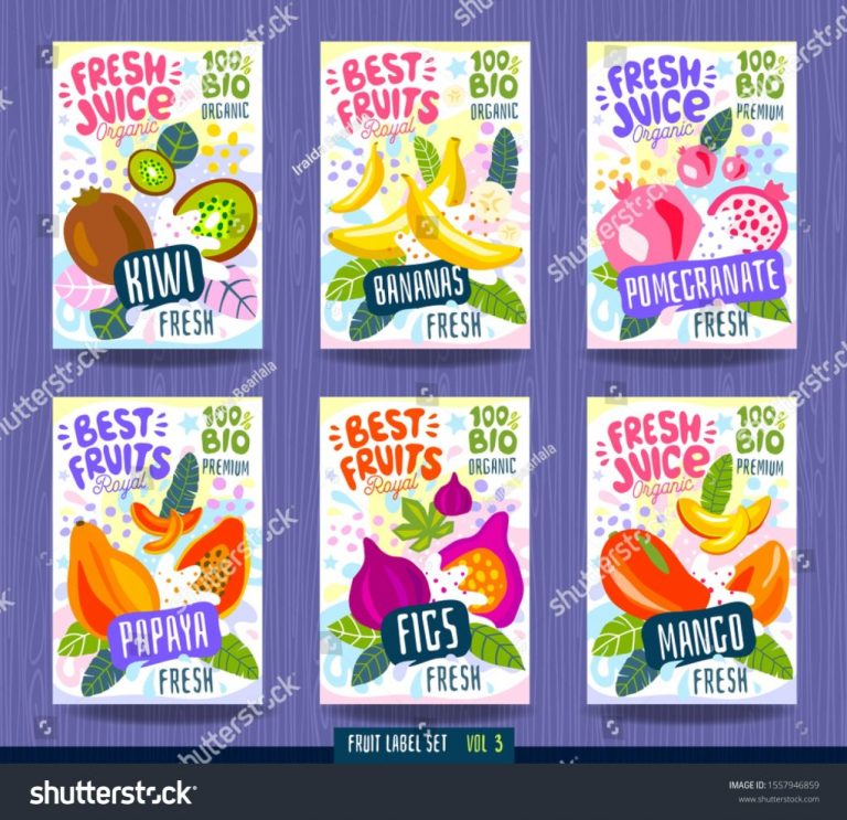 fruits label spices vegetables package