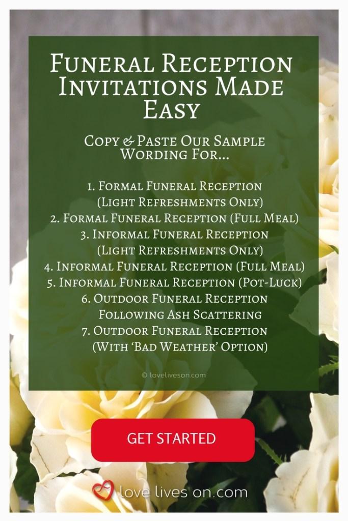 funeral invitation wording