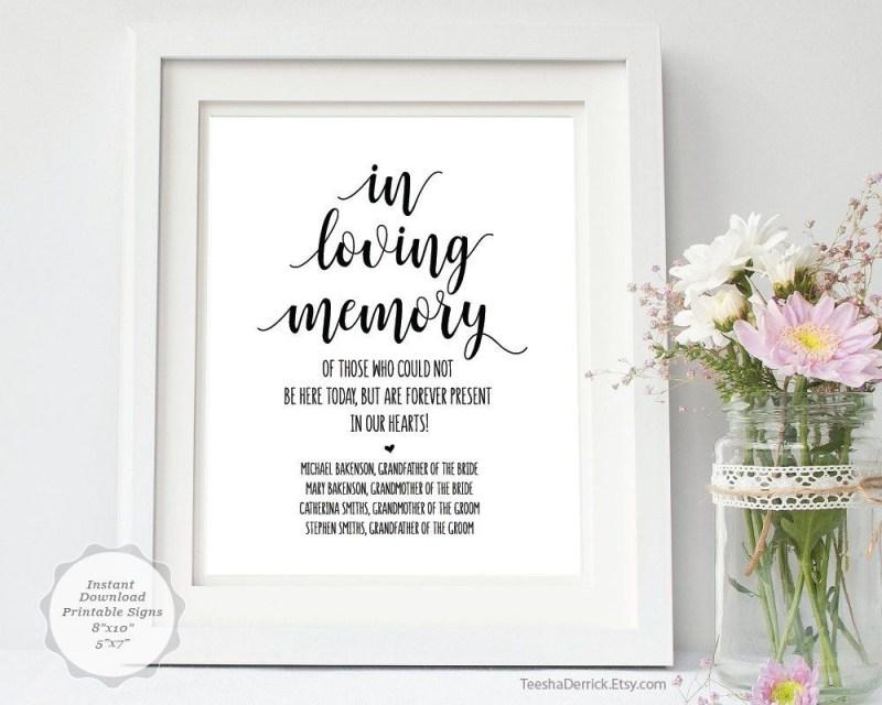 in loving memory sign template