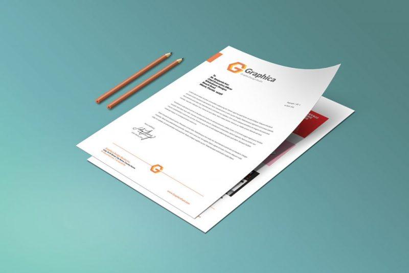 letterhead mockup psd template