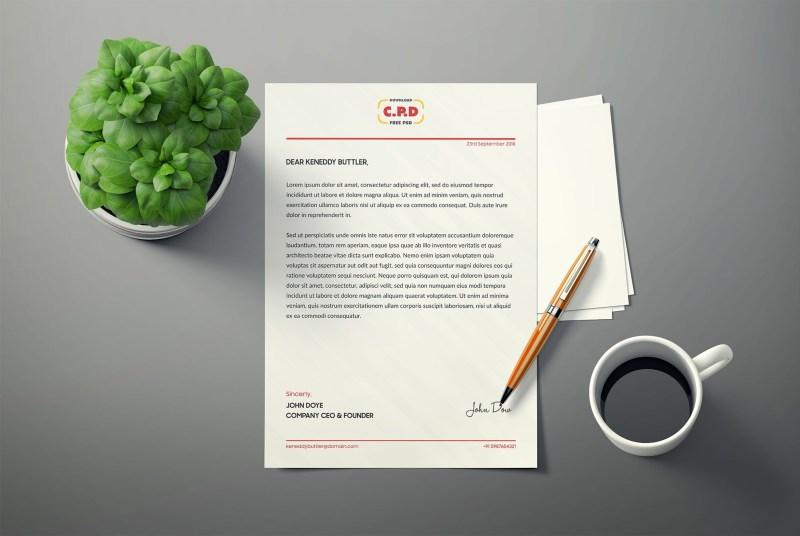 letterhead mockups stationery