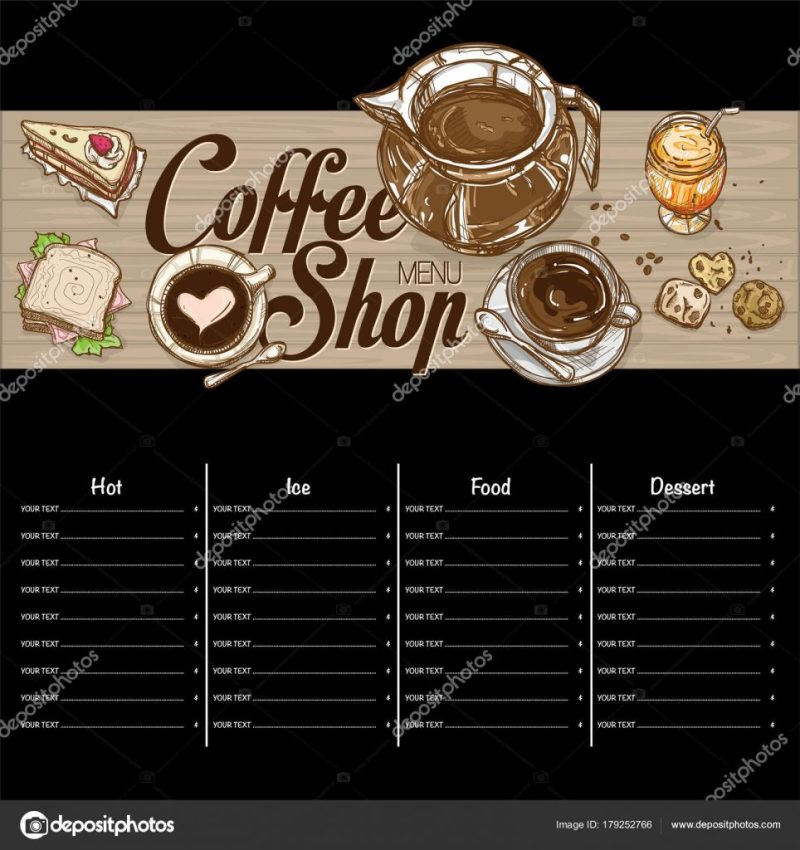 menu coffee restaurant template design