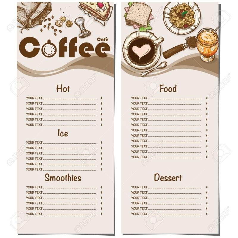menu template hand drawn