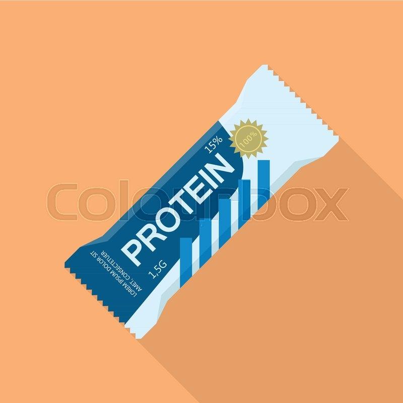 protein bar icon flat illustration