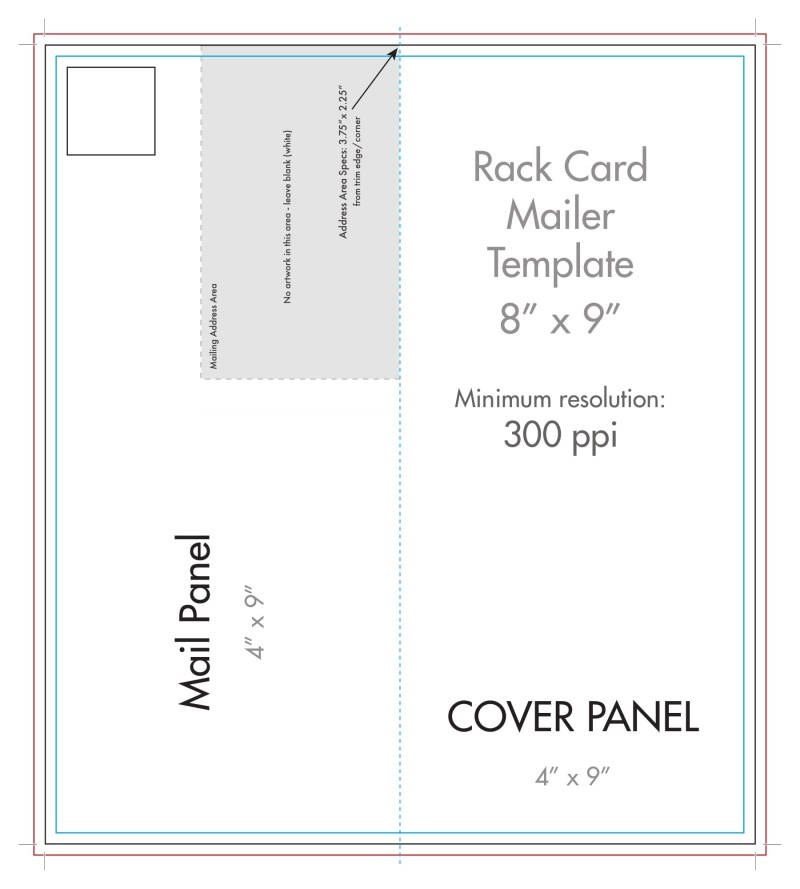 rack card mailer dimensions