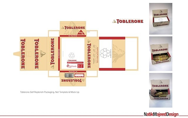 toblerone box packaging design