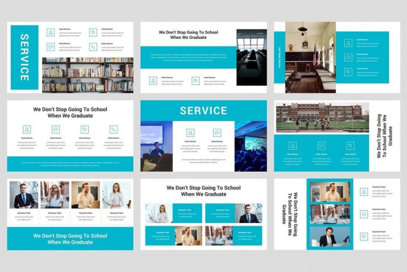high school and college education keynote template