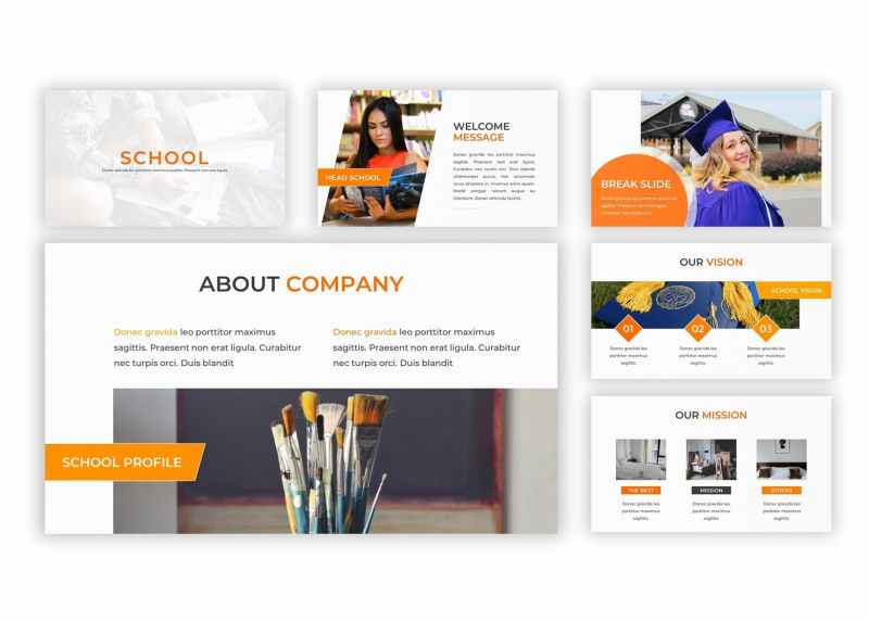school clean and creative powerpoint template