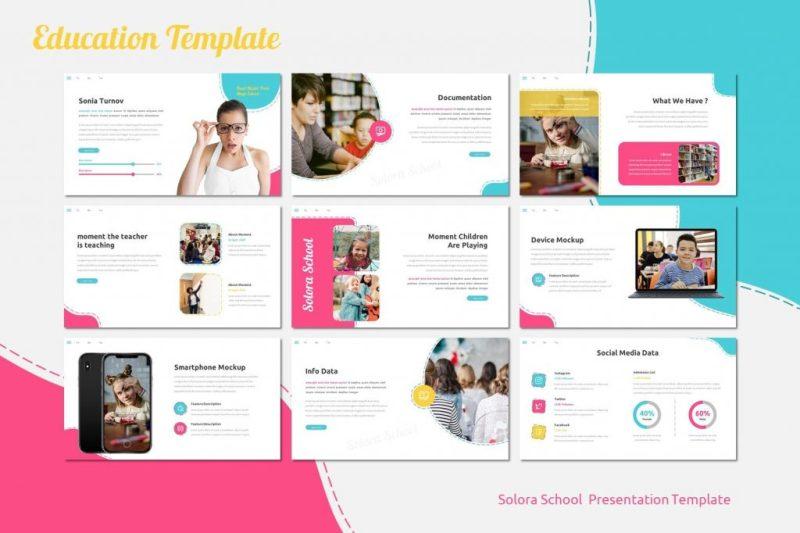 school powerpoint and instagram templates