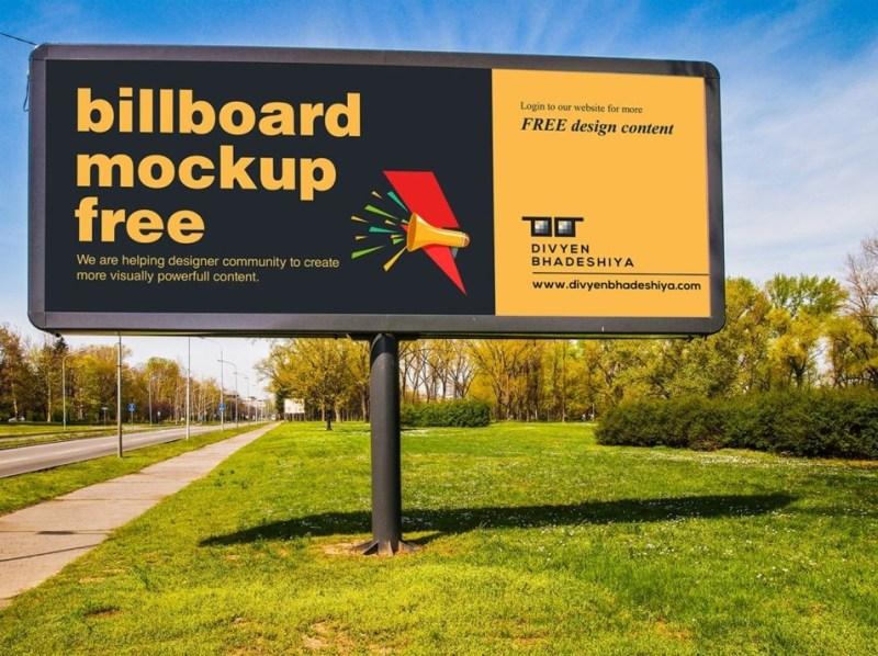 billboard mockup psd css author
