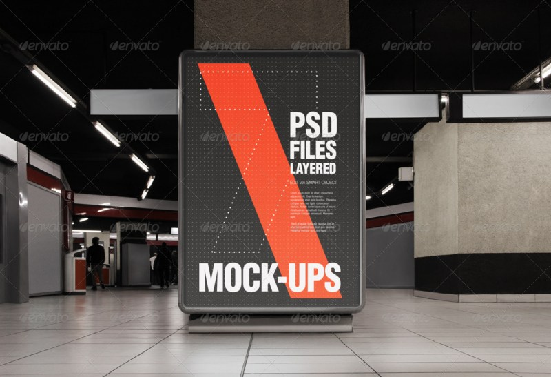 flyer and poster urban mock ups set pack giallo