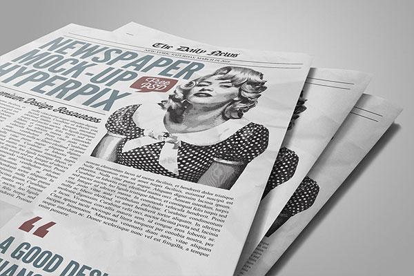 newspaper close up mockup vol2 psd template hyperpix