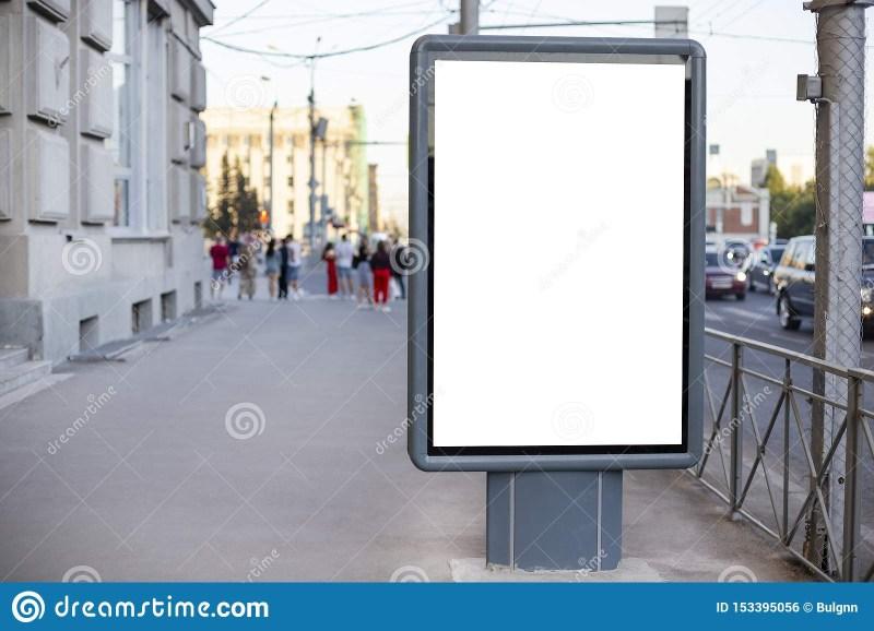vertical blank billboard mockup of outdoor advertising