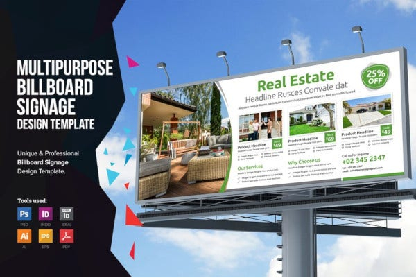 9 real estate billboard templates in ai psd free
