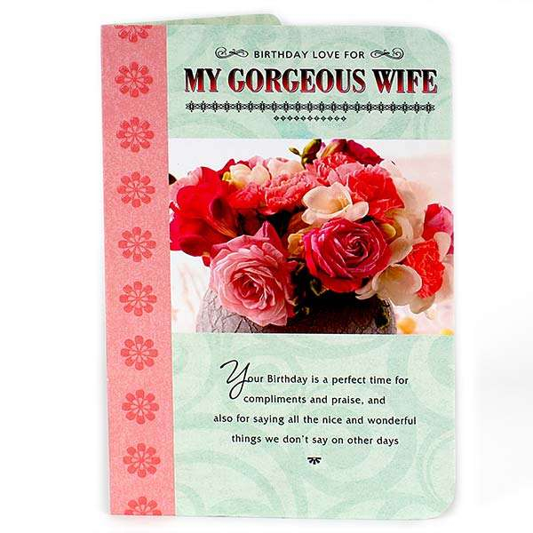 buy gorgeous wife birthday card online at best price in