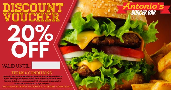 copy of restaurant burger bar promo facebook ad template