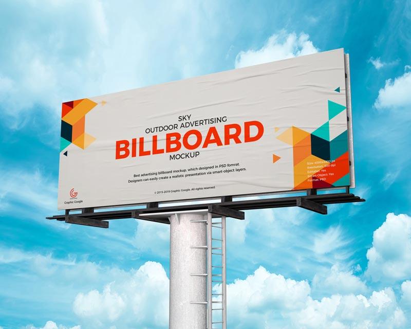 free advertising billboard mockup mockuptree