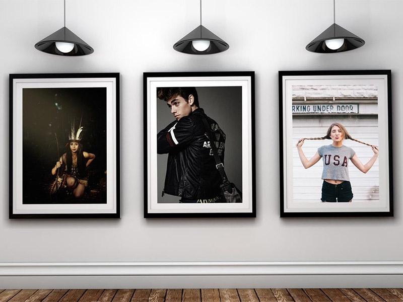 free art gallery poster frame psd mockup eddy biel on