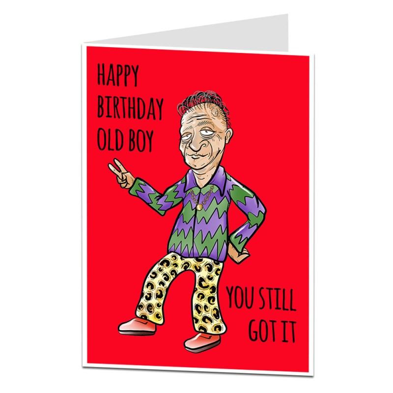 funny birthday card for him men old boy dad husband 40th
