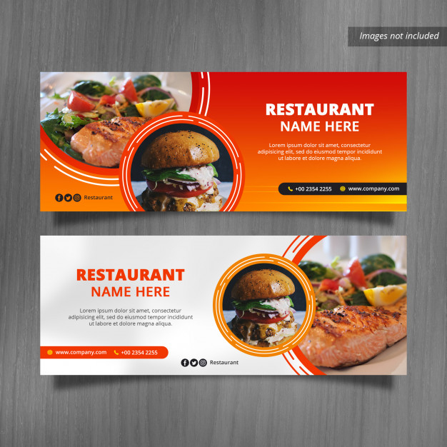 premium psd restaurant facebook cover banner designs