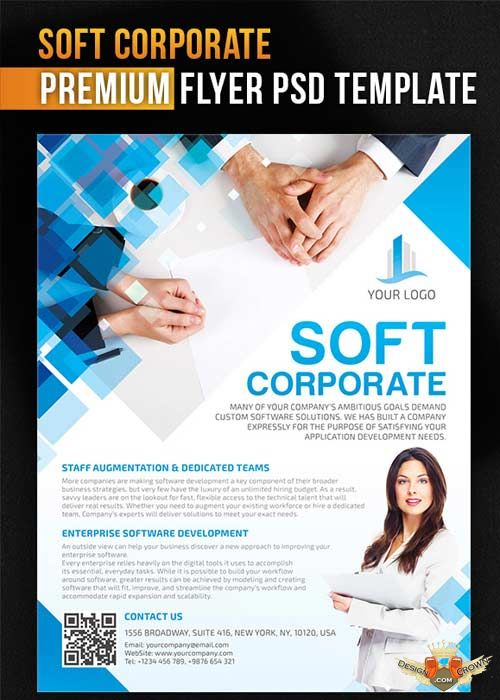 soft corporate flyer psd template facebook cover