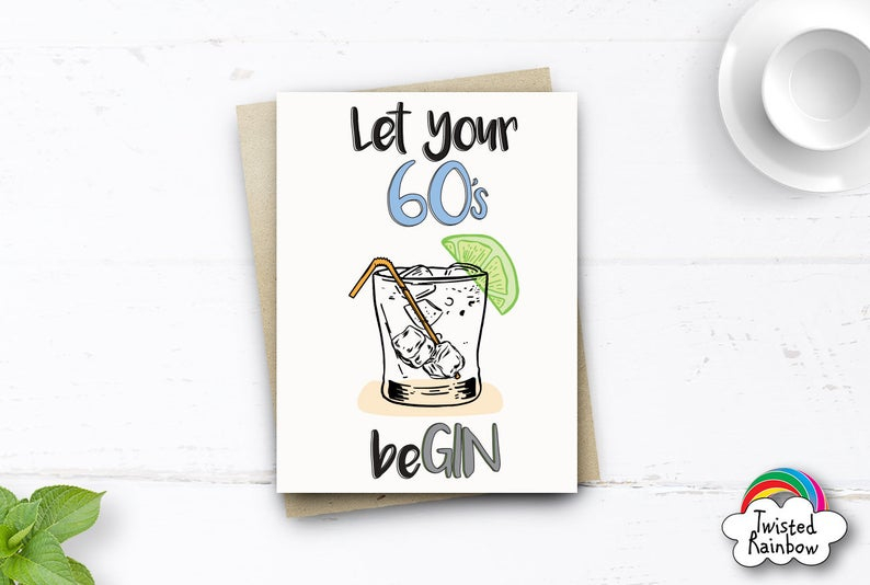 funny 60th birthday card for women mum her him friend wife