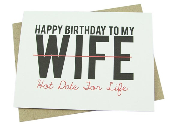 wife birthday card funny love for her sexy wife
