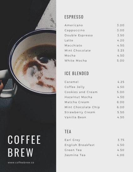 customize 71 coffee shop menu templates online canva