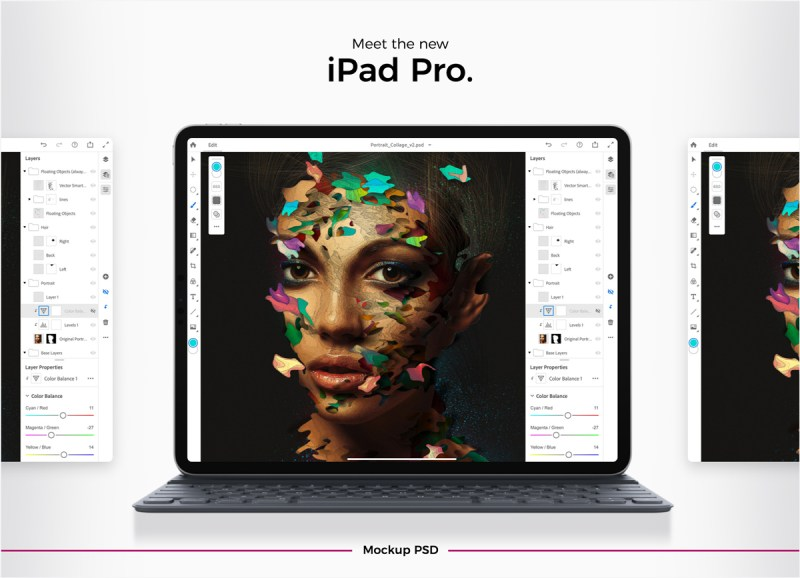 free apple new 2018 ipad pro mockup psd mockup planet