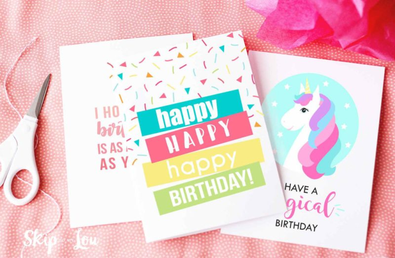 11 free printable birthday cards for everyone
