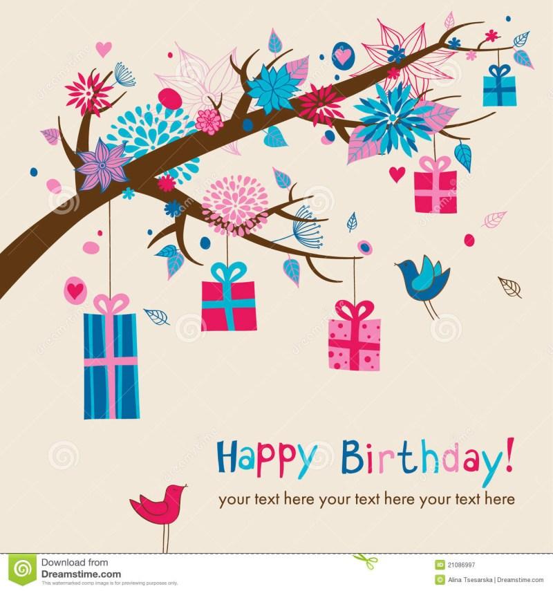 cute birthdays card royalty free stock photography