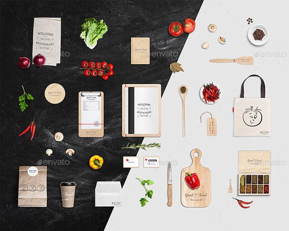 free photo realistic restaurant branding mockups