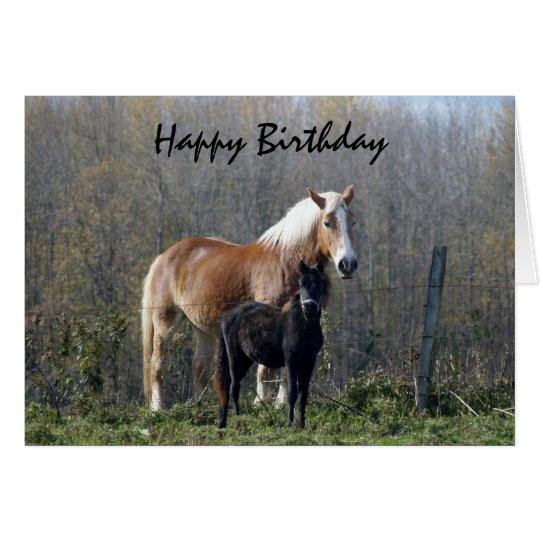 happy birthday horses card zazzle