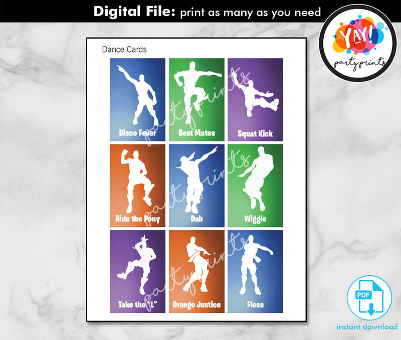 instant download digital fortnite birthday party printable