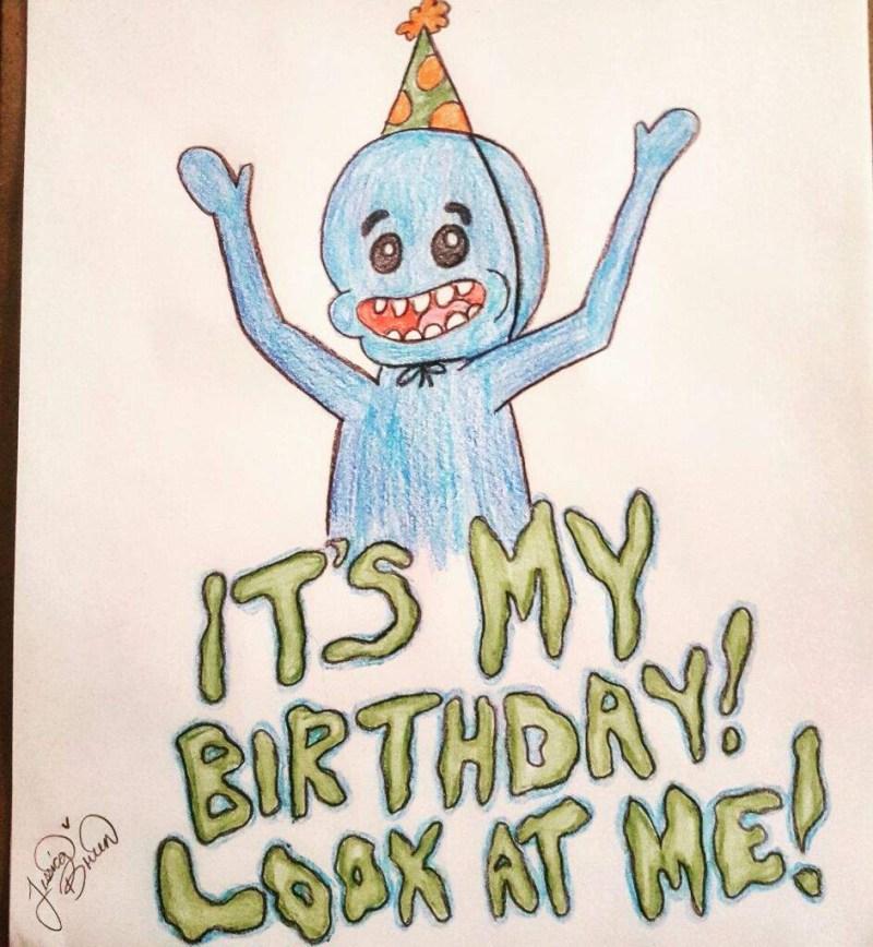 its my birthday rick and morty amino