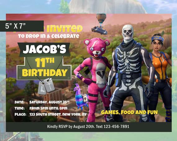 make a fortnite birthday party invitation