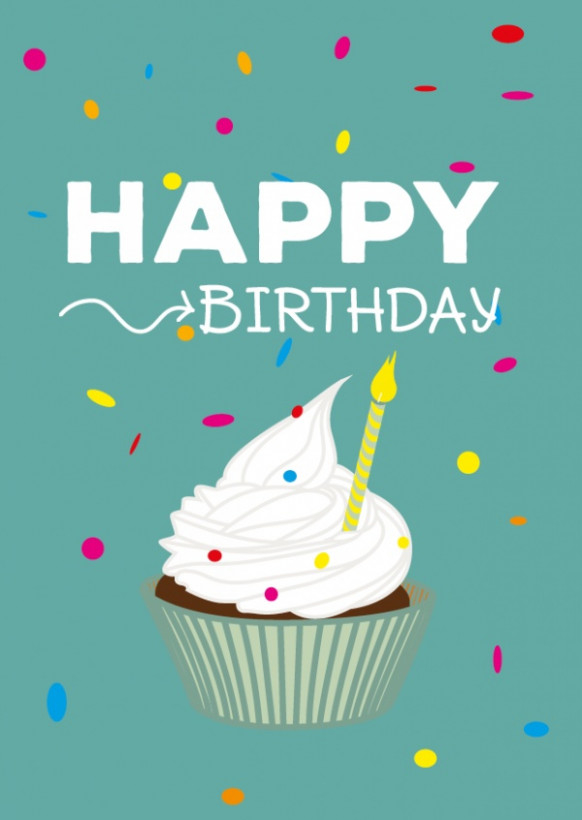 online happy birthday card card design