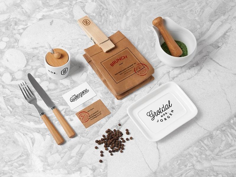 restaurant food branding mock up forgraphic on dribbble
