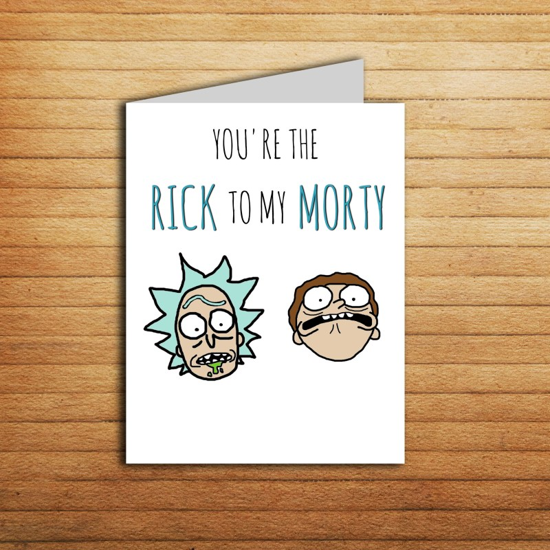 rick and morty card youre the rick to my morty valentines day