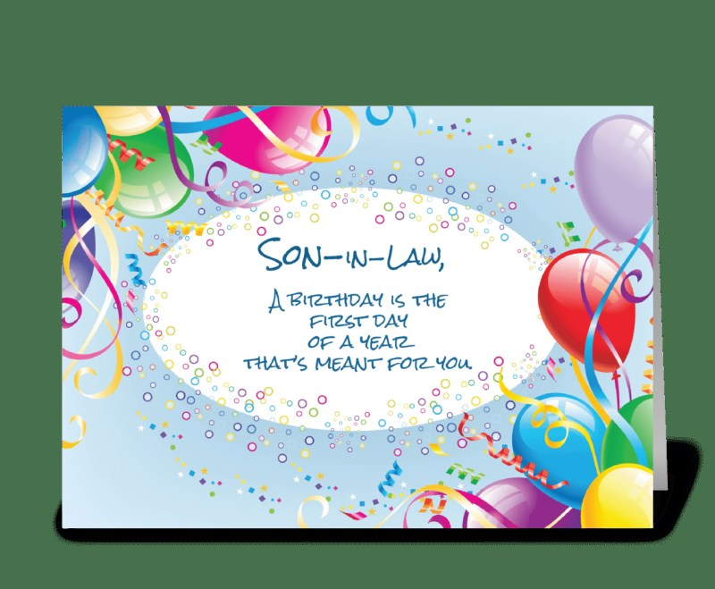 son in law birthday balloons send this greeting card
