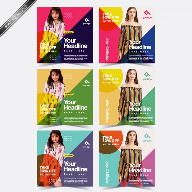 banner for social media post design template premium vector