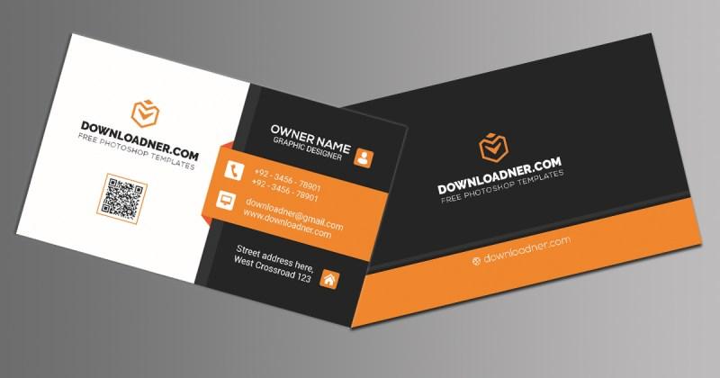 black premium business card templates photoshop psd